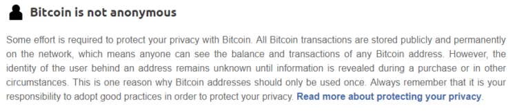 Bitcoin is not anonymous